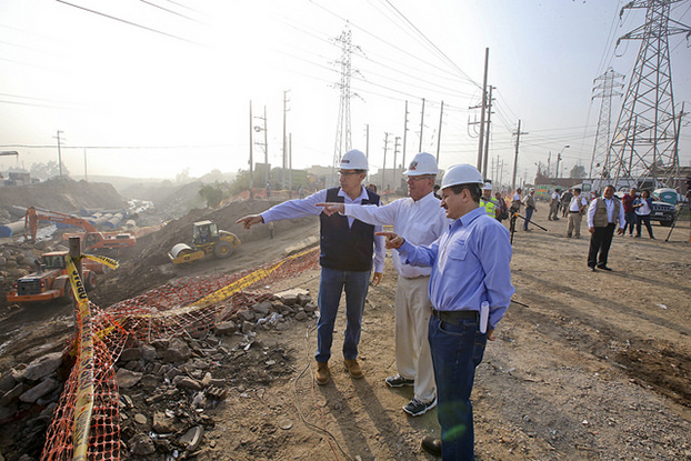 PPK visitando obras en Huachipa | Foto Presidencia de la República