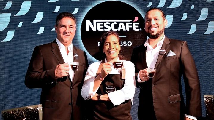 Juan Gabriel Reyes - Gerente General Nestlé Perú_Angelo Ginocchio - Gerente de Nestlé Professional_Claudia Satizabal - Barista Profesiona