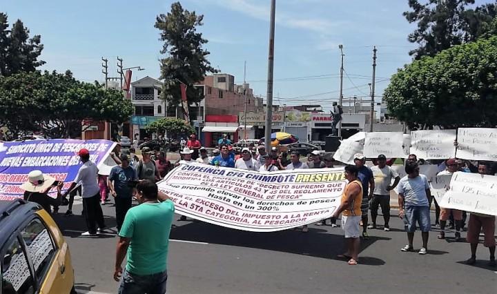 Protesta SUPNEP Chimbote